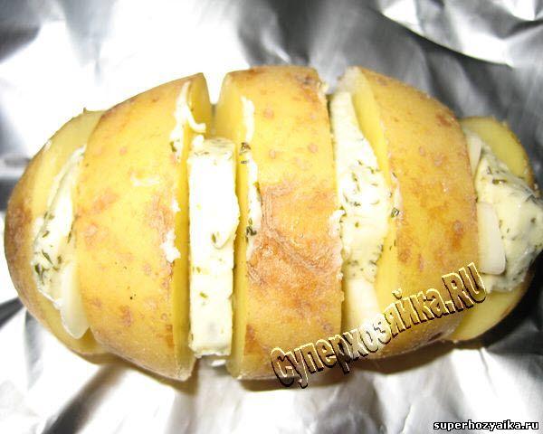 рецепт запеченного картофеля с чесноком в духовке рецепт