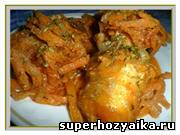 Блюда из рыбы. Судак в томатном соусе. Судак жареный. Судак с овощами. Рецепт фото