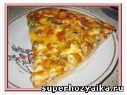 Пицца -  рецепт приготовления. Пицца с колбасой. Рецепт пиццы с грибами. Пицца и...