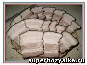 Вареная грудинка в луковой шелухе. Рецепт приготовления копченой свиной грудинки в домашних условиях