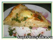 Рецепт мясной закуски. Пасхальное кольцо с яйцами. Рецепт с фото. Блюда из куриц...