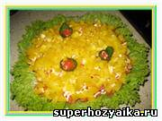 Рецепт салата к праздничному столу. Салат с мясом и грибами. Салат праздничный калейдоскоп