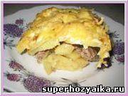 Запеканка из картофеля с мясом. Быстрый завтрак. Рецепт быстрого ужина. Картофел...