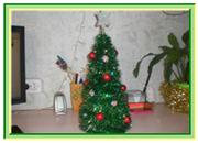 Новогодняя елка своими руками. Поделки с детьми. Новогодняя елка из картона