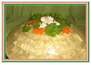 Вкусный салат на праздничный стол. Салат с курицей. Фото-Рецепт салата Хрустальный