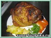 Рулька по-мюнхенски.  Рецепт запечённого свиного окорока. Блюда из мяса для новогоднего стола