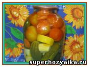 Овощное ассорти на зиму «Огород в банке». Консервированные огурцы, помидоры, кабачки, рецепт
