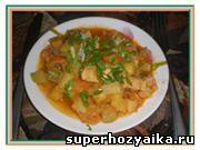 Соте с курицей и овощами.  Блюдо из овощей. Рецепт овощного соте с фото