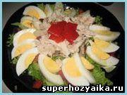 Праздничный салат  - Мужской салат c копченой скумбрией. Легкий быстрый салат с ...