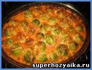 Брюссельская капуста в сметано-томатном соусе. Запеченная брюссельская капуста. Блюда из брюссельской капусты