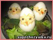 Цыплята из фаршированных яиц. Закуска для праздничного стола. Фаршированные яйца. Блюдо для детского дня рождения